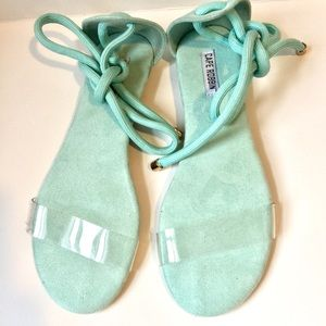 NEW CAPE ROBBIN FLAT TEAL( blue-green) SANDALS